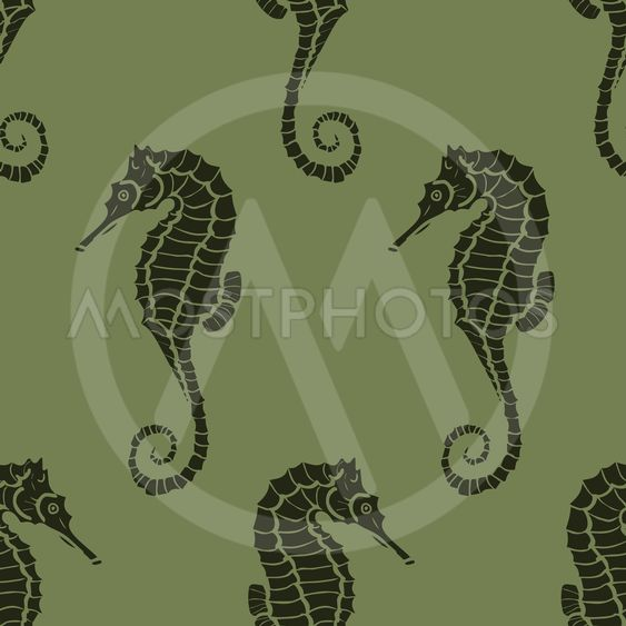 seamless pattern made from seahorses