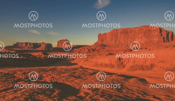 Raw Arizona Monuments Valley Scenic Panorama