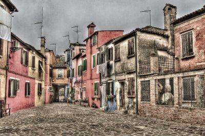 Buildings in Burano, Italy.