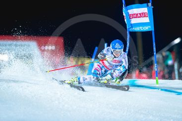 Bernadette Schild (AUT) at the FIS Parallel slalom city...