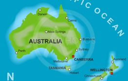 Map Of Australia And New Ze By Kaarsten Mostphotos