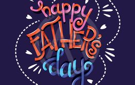 Happy Father's Day, hand lettering typography modern...