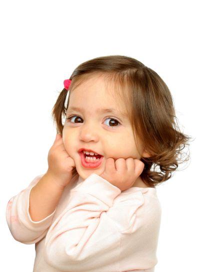 Little girl simling at camera