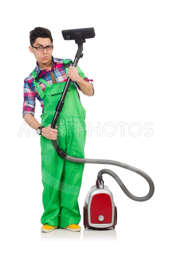 Funny Man In Green Coverall By Elnur Mostphotos