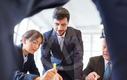 Business team and consultant