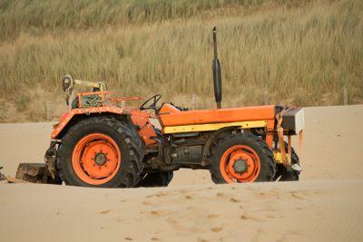 tractor in sand dunes