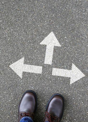 Decision decide business concept goals success solution...