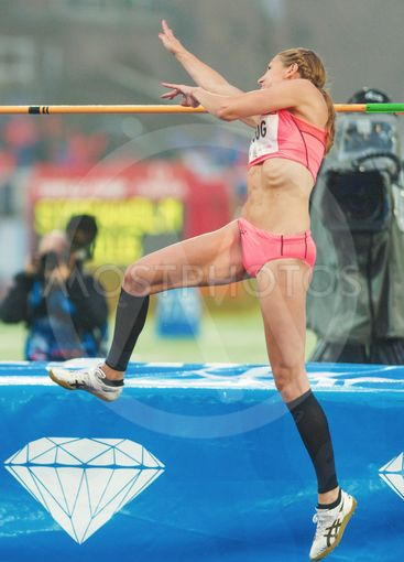 Sofie Skoog in the women high jump at the IAAF Diamond...