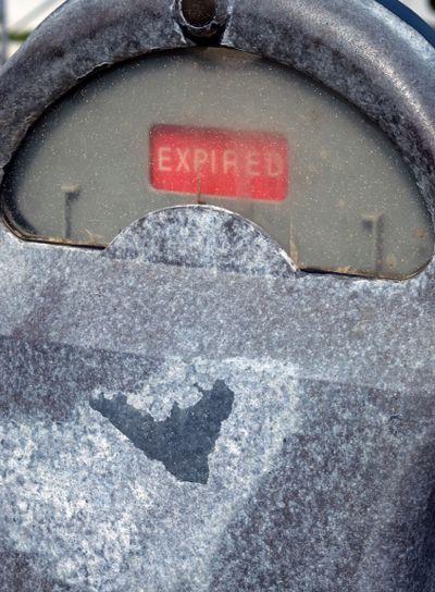 Weathered Parking Meter