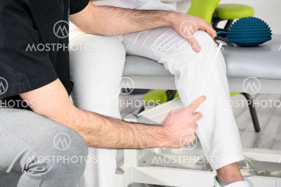 Neurological examination. The neurologist testing...