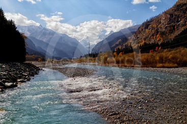 mountain rivers of the Caucasus.