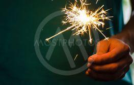 Sparkler Fire In Hand