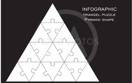 Vector illustration with triangels in pyramid puzzle.