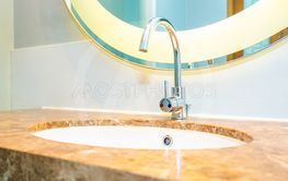 Beautiful luxury water faucet and sink decoration in...