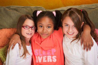 Three Little Girl Friends