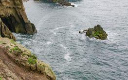 cornwall rough coast