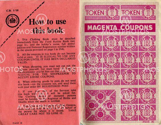 British clothing ration book