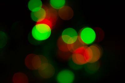 Defocussed bokeh of light spots