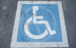 Parking symbol of disabled people.