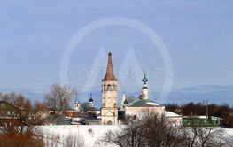 Photo of a bright beautiful old Russian retro temple in...