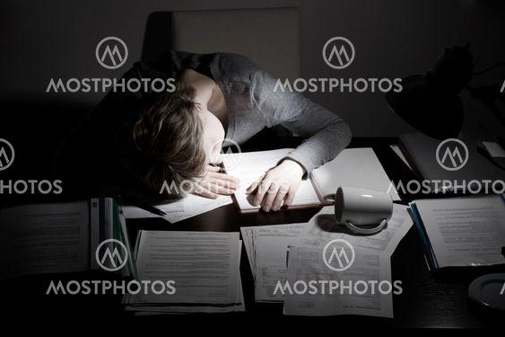 asleep working overhours