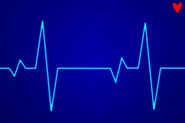 Electronic cardiogram ECG heart beat trace on a monitor.