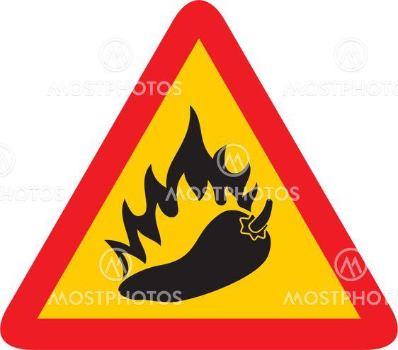 Hot pepper sign