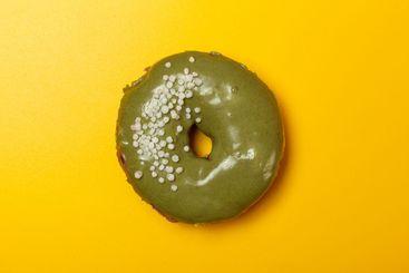 creamy matcha donut