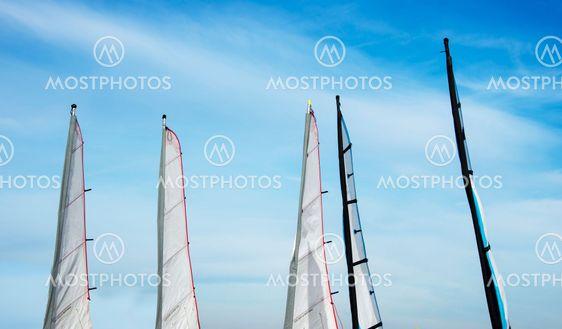 sailing sails on the beach