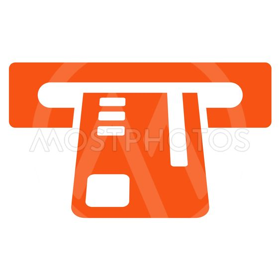 Ticket Terminal Flat Vector Icon