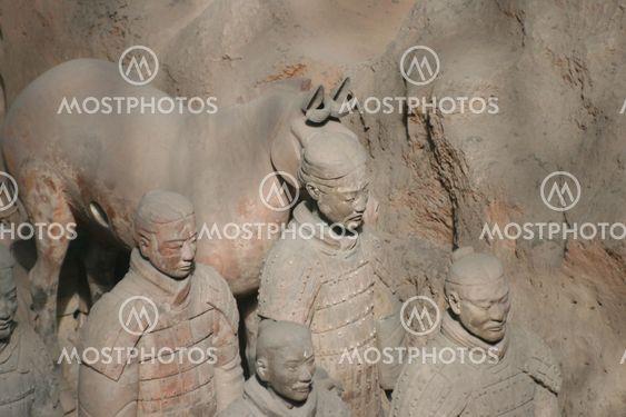 Terracotta Army Xian / Xi'an, China - Detail - fac