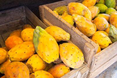 Cactus fruits in crate