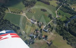 Aerial view of village in Småland.