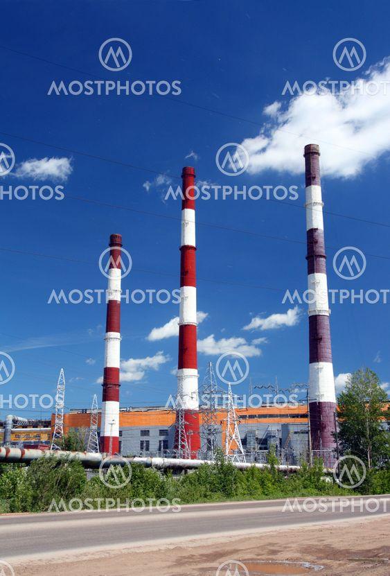 tehtaan savuhormit