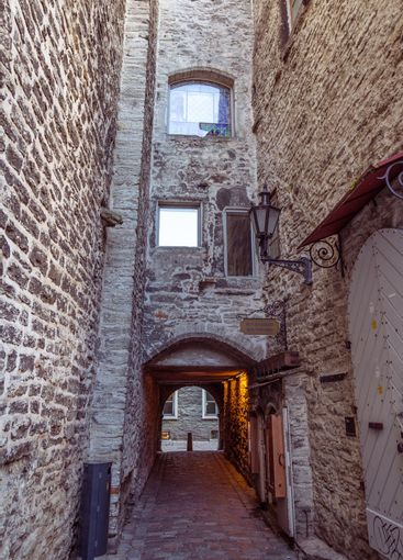 St Catherine's Passage n the old town of Tallinn, Estonia