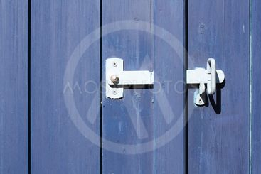 Latch on wooden gate