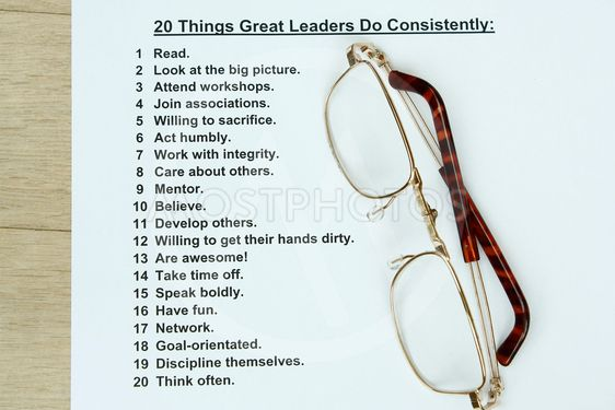 20 things great leaders do consistently