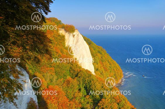 Ruegen island, the chalk cliffs in autumn, the Kings chair