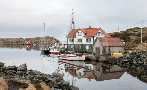 Rovaer in Haugesund, Norway - januray 11, 2018: The...