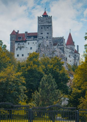 Frog view of Bran castle or famous Dracula's castle,...