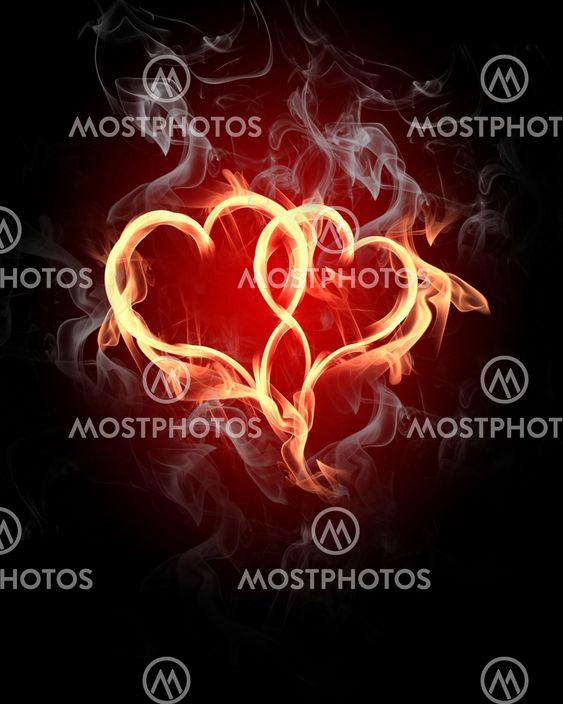 brændende hjerter