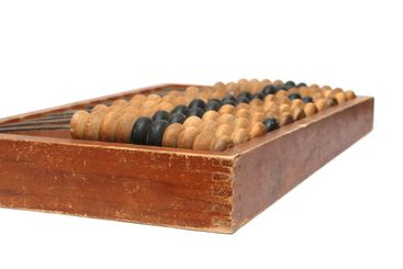 old wooden abacus - obsolete calculator