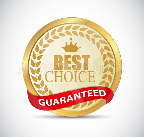 Gold Best Choice Label Vector Illustration