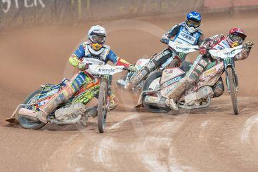 Piotr Pawlicki (POL) in the lead at Stockholm FIM...