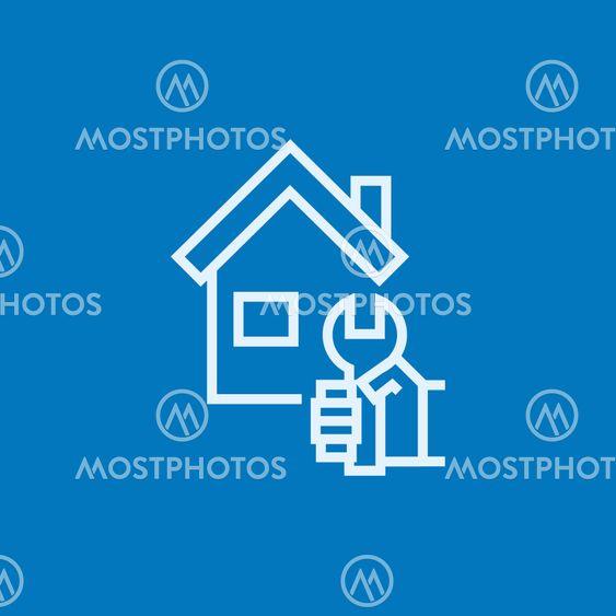 House repair line icon.