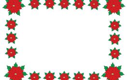 christmas poinsettia border/frame