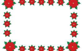 christmas poinsettia border/frame