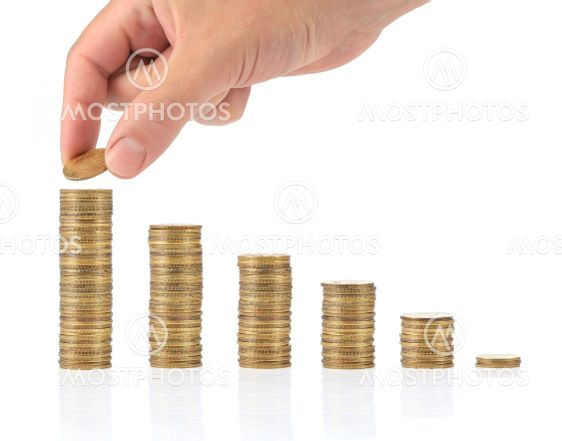 Savings. Investment concept with coins