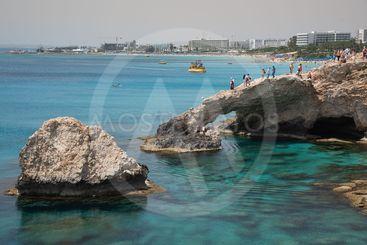 Lovers Bridge, Sea caves Ayia Napa Cyprus