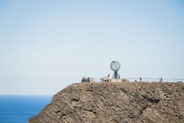 North Cape in sunny day in Norway